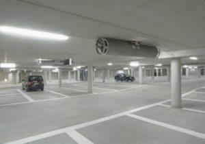 Nieuwbouw ventilatiesystemen parkeergarage VvE